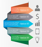 Business Infographic arrows. Abstract 3D digital business Infographic arrows. Can be used for workflow process, startup, banner, diagram, number options, work Royalty Free Stock Photo