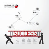 Business Infographic carrying ladder concept.vector. Illustration Stock Image