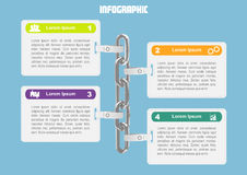 Business infographic with chain. Page 1 of 7. Business infographic with chain for banner, number options, web design, documents etc Stock Photo