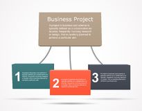 Business infographic, chart, graph, project Stock Photos