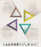 Business infographic chart template with set of ic Royalty Free Stock Image