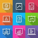 Business Infographic Charts Icons Royalty Free Stock Images