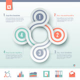 Business infographic Royalty Free Stock Photo