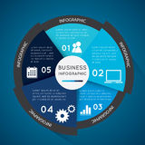 Business infographic circle. Business infographic pie chart for documents and reports for documents Royalty Free Stock Photos