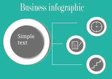 Business infographic with circles stock photography
