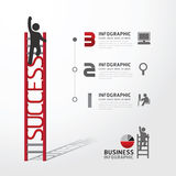 Business Infographic climbing ladder concept.vector. Illustration Stock Photography