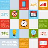 Business infographic color squares Royalty Free Stock Photo
