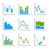 Business Infographic Colorful Charts and Royalty Free Stock Photos
