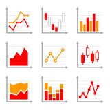 Business Infographic Colorful Charts and Diagrams Royalty Free Stock Images