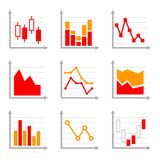 Business Infographic Colorful Charts and Diagrams Stock Photo
