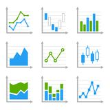 Business Infographic Colorful Charts and Diagrams. Royalty Free Stock Photos