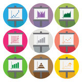 Business Infographic Colorful Charts Diagrams circle Royalty Free Stock Photos