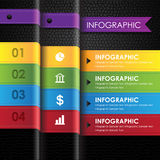 Business infographic colorful leather black background Stock Photo