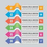 Business infographic concept - horizontal colored banners with arrows - vector layout for presentation, brochure, website etc. Royalty Free Stock Photo