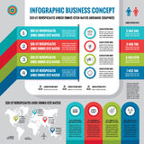 Business infographic concept layout in flat design style for presentation, booklet, website and other design projects. Vector infographic template. Set of Royalty Free Stock Image