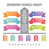 Business infographic concept layuot. Origami vector banners - Infographic template. Stock Photo