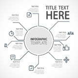 Business infographic concept -  set of infographic elements in flat design style for presentation, booklet, website. Vector Royalty Free Stock Photos