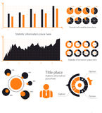 Business infographic concept -  set of infographic elements in flat design style for presentation, booklet, website. Vector Royalty Free Stock Photography