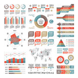 Business infographic concept - vector set of infographic elements in flat design  Stock Image