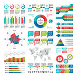 Business infographic concept - vector set of infographic elements in flat design style for presentation, booklet, website etc. Stock Image