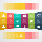 Business Infographic. The design concept of marketing Stock Image