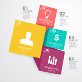 Business Infographic. The design concept of marketing Royalty Free Stock Photography