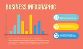 Business Infographic design graph and step Royalty Free Stock Photos