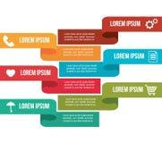 Business infographic design Stock Photos