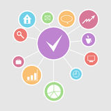 Business infographic design for office concept of. Success and components, vector illustration Stock Images