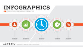 Business infographic design template. Vector illustrating. Royalty Free Stock Images