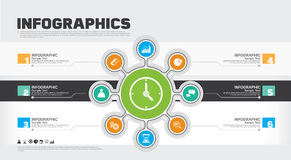 Business infographic design template. Vector illustrating. Royalty Free Stock Photos