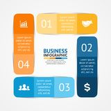 Business infographic, diagram, presentation. Layout for your options or steps. Abstract template for background Stock Image