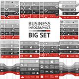 Business infographic, diagram, presentation set. Layout for your options or steps. Abstract template for background Royalty Free Stock Image