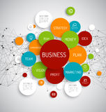 Business infographic diagram Stock Photos