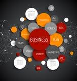 Business infographic diagram Stock Photos
