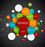 Business infographic diagram Royalty Free Stock Image