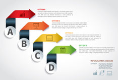 Business Infographic Element data Template Royalty Free Stock Images