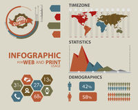 Business infographic elements Royalty Free Stock Photos