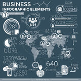 Business Infographic Elements Stock Images