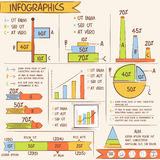 Business infographic elements. Stock Photos