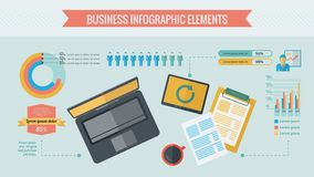 Business Infographic Elements Stock Photography