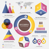 Business Infographic elements set. Royalty Free Stock Photo