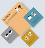 Business Infographic with Elements Royalty Free Stock Photo