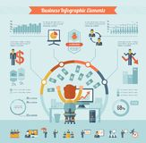 Business Infographic Elements Stock Photo