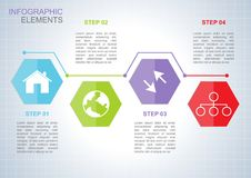 Business infographic elements template vector illustration.  royalty free illustration