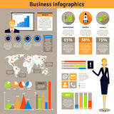 Business infographic flat banners poster Royalty Free Stock Photo