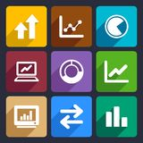 Business Infographic flat icons set 34. Business Infographic flat icons set  for Web and Mobile Applications Royalty Free Stock Images