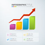 Business infographic growth bar chart statistics with icons Stock Images