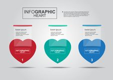 Business infographic heart vector banner Royalty Free Stock Images
