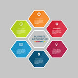 Business infographic hexagon Royalty Free Stock Images